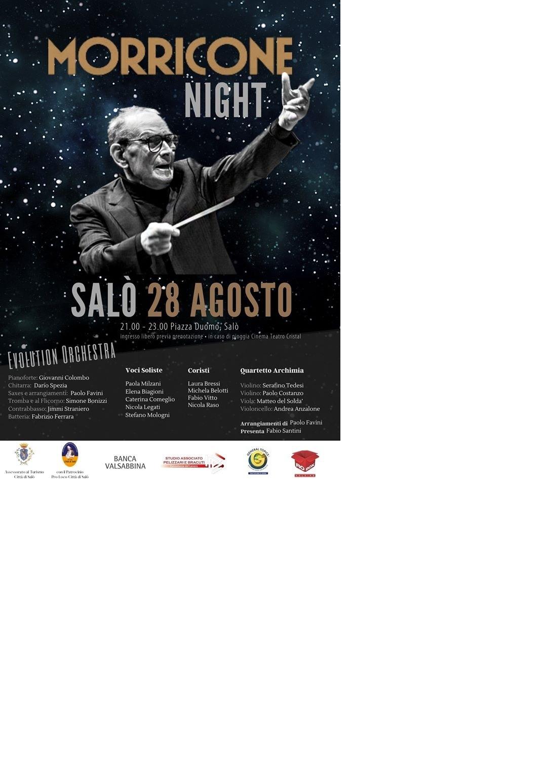 Morricone night in diretta su Teletutto e maxischermo in Piazza della Vittoria.