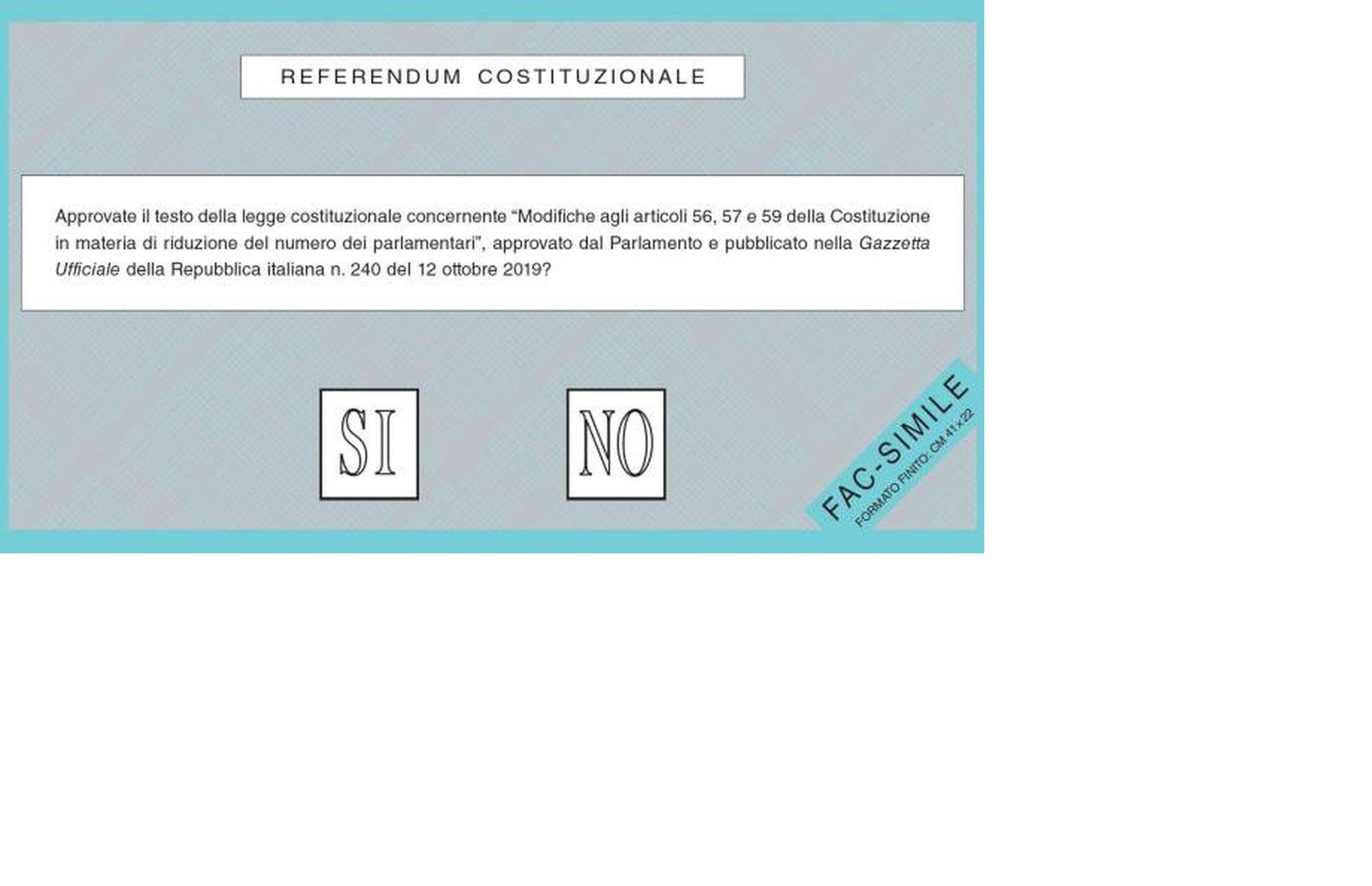 Referendum 20-21 settembre. Risultati