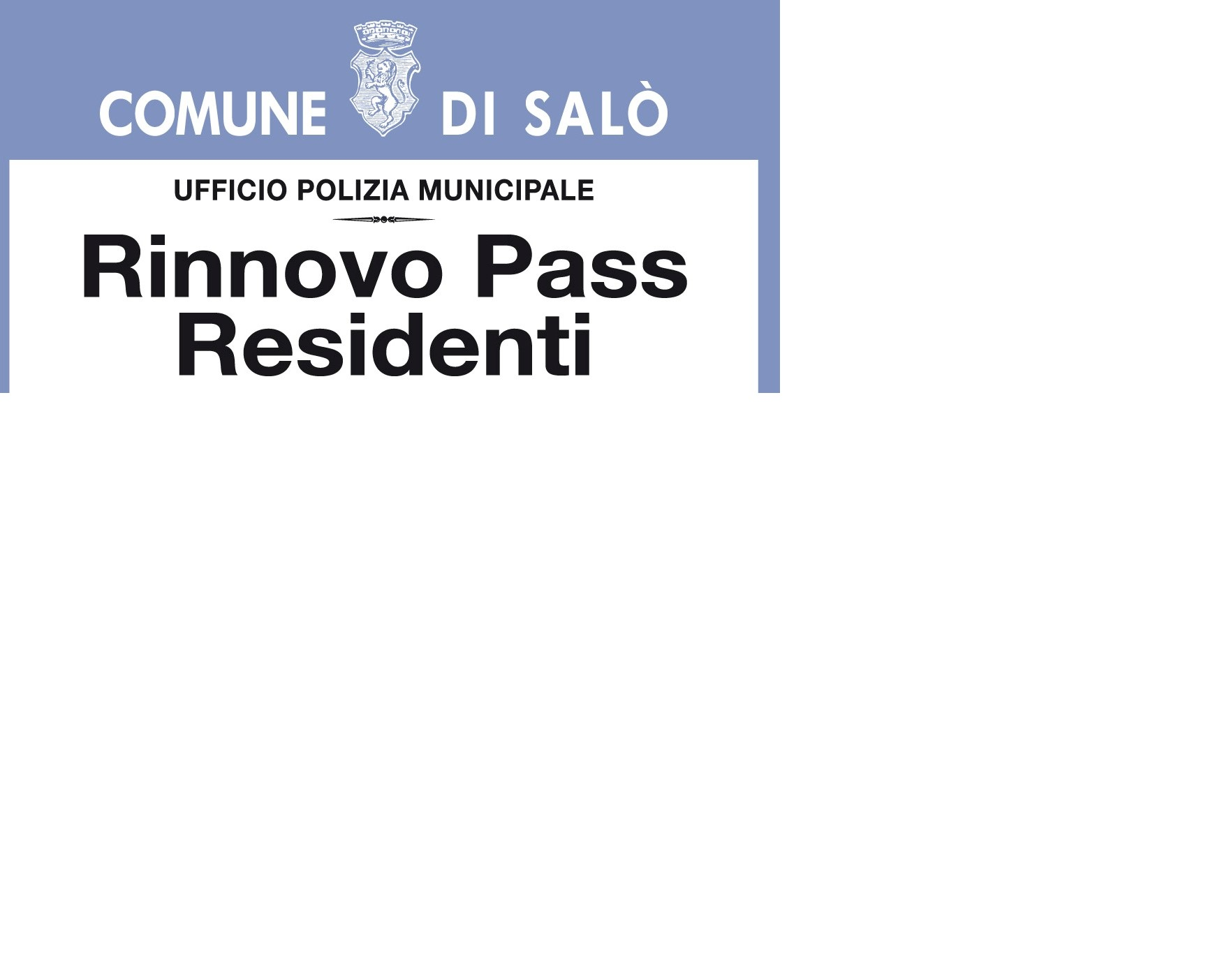Proroga rinnovo pass di sosta per residenti